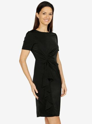Čierne šaty s volánom VERO MODA Snack