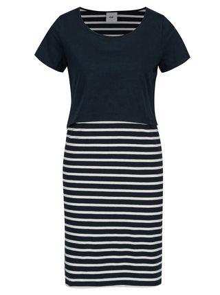 Tmavě modré pruhované kojicí šaty Mama.licious Lea