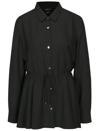 Černá halenka se stahováním v pase DKNY