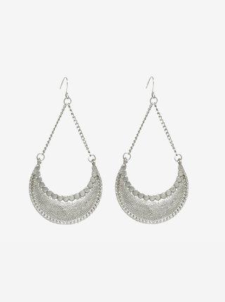 Cercei lungi argintii in stil oriental - Pieces Ingrid