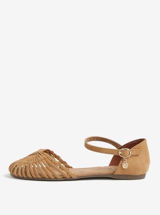 Sandale maro cu detaliu decorativ pentru femei - s.Oliver