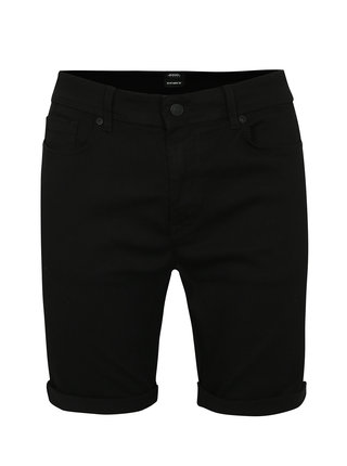 Pantaloni scurti din denim negri - Burton Menswear London