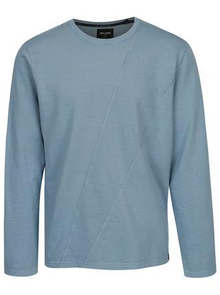 Bluza sport albastra cu cusaturi decorative - ONLY & SONS Knox