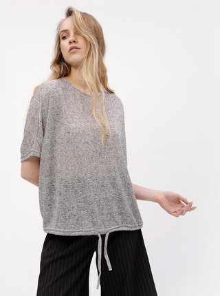 Bluza oversized gri cu snur VERO MODA Pia