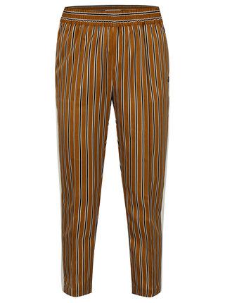 Horčicové pruhované nohavice s vysokým pásom Scotch & Soda