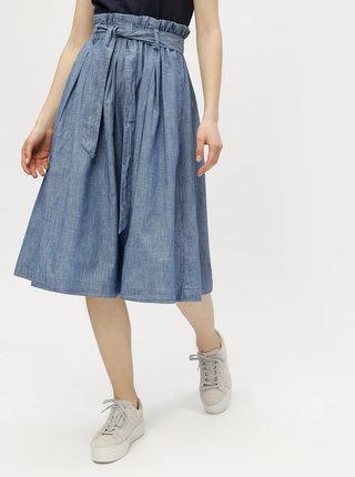 Modrá sukňa s vreckami VERO MODA Ace