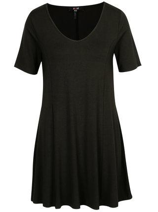 Černé šaty s véčkovým výstřihem Yest