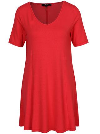 Rochie rosie cu decolteu anchior - Yest