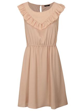 Staroružové šaty s volánom ONLY Caroline