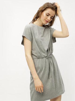 Sivé melírované basic šaty VERO MODA Rebecca