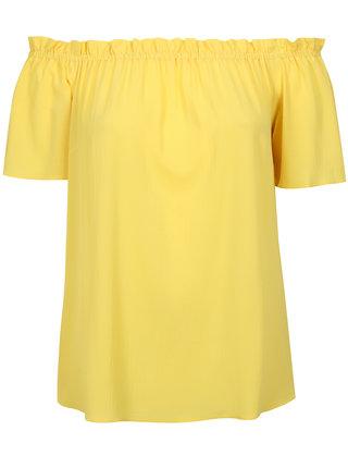 Žltá blúzka so spadnutými ramenami Dorothy Perkins Curve