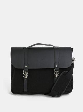 Černý kožený batoh/taška Enter Dog Hook Brief 12 l