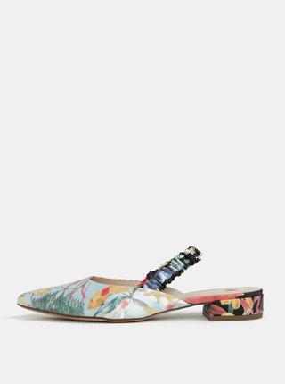Sandale albastru & negru cu model floral - Högl