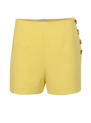 Žluté kraťasy s vysokým pasem Miss Selfridge