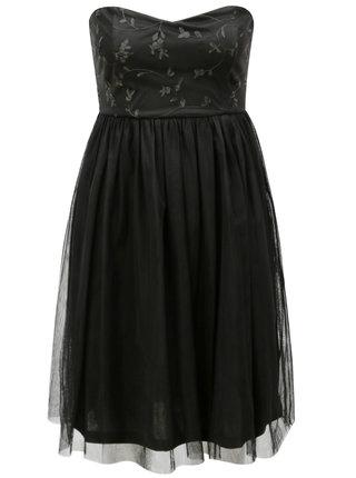 Rochie neagra din tul cu decupaj la spate ONLY Juhlia