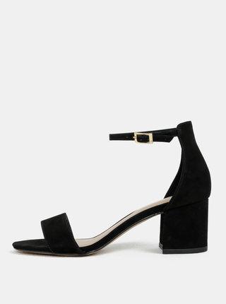 Čierne kožené sandáliky ALDO Villarosa