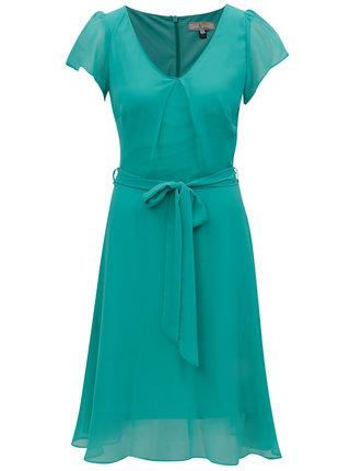 Rochie verde cu decolteu in V - Billie & Blossom