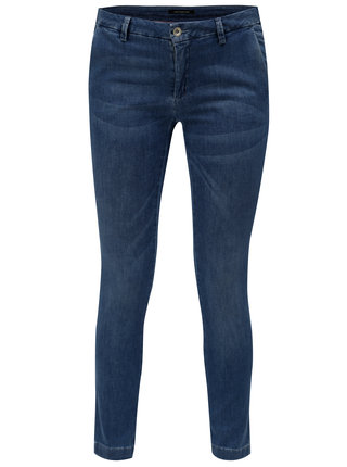 Modré zkrácené slim džíny s nízkým sedem Fornarina Kate