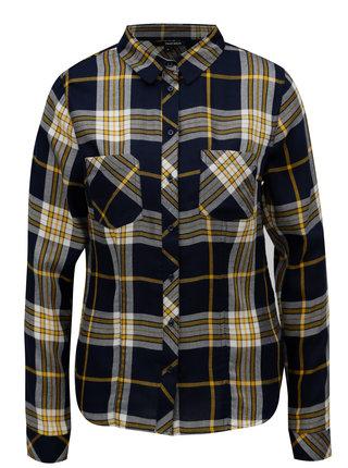Žluto-modrá kostkovaná košile TALLY WEiJL