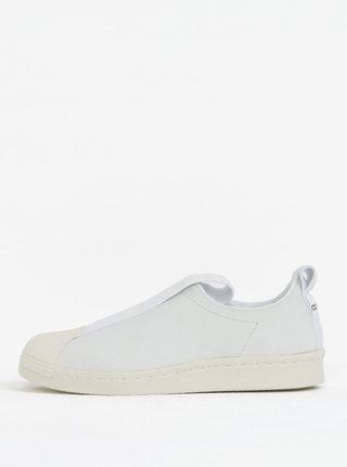 Slip ons de dama albi din piele adidas Originals Tubular Superstar