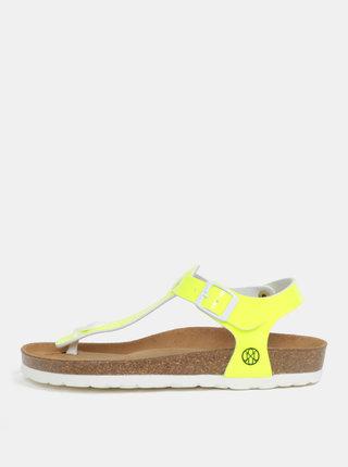 Sandale galben neon pentru femei - OJJU