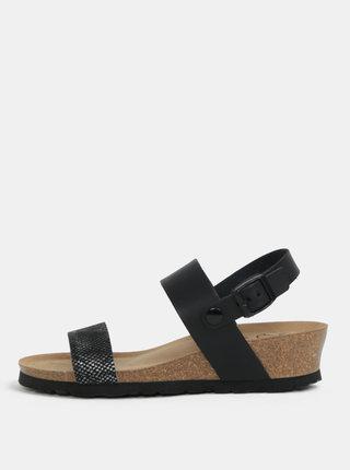 Čierne sandále na kline OJJU