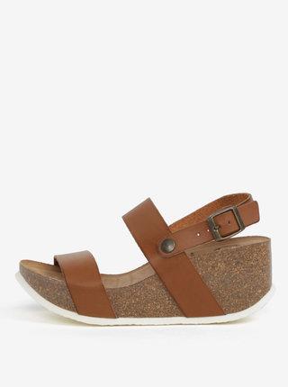 Hnedé sandále na platforme OJJU