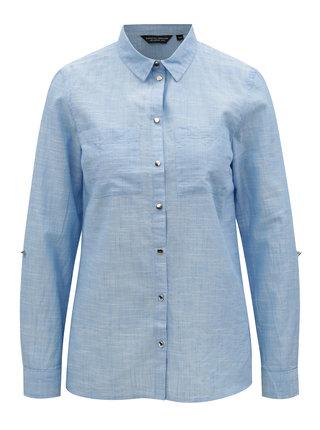 Světle modrá žíhaná košile Dorothy Perkins
