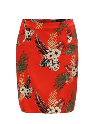 Červená květovaná sukně Dorothy Perkins