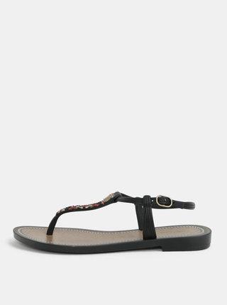 Sandale maro-negre cu model aztec Grendha Acai