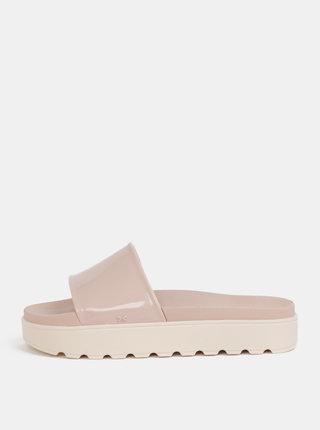 Světle růžové pantofle na platformě Zaxy Upload Plat