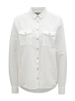 Bílá dámská lněná košile s kapsami Garcia Jeans