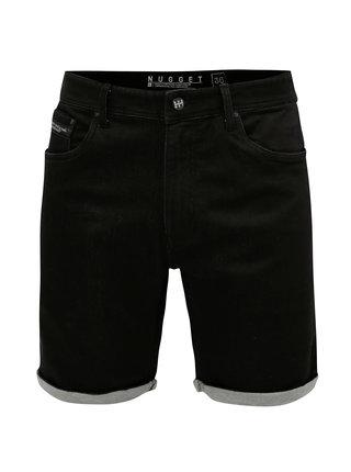 Pantaloni scurti negri pentru barbati - NUGGET Indy
