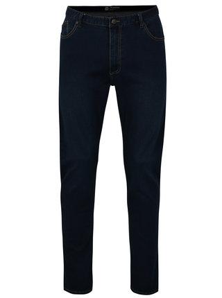 Blugi albastri slim straight fit din denim pentru barbati - Horsefeathers Flip