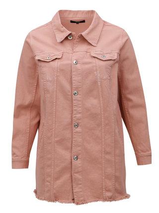 Jacheta roz de dama din denim Zizzi