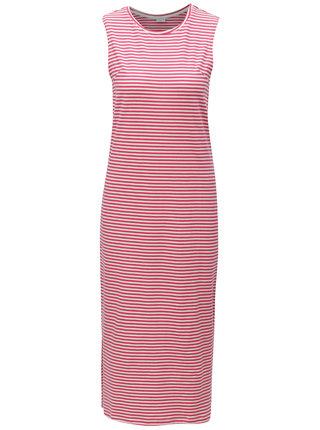 Bílo-růžové pruhované šaty Jacqueline de Yong Charm