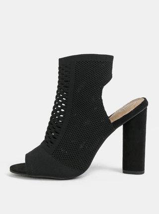 Čierne sandálky na širokom podpätku MISSGUIDED