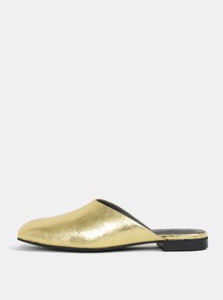 Papuci de dama aurii din piele naturala Vagabond Dolores