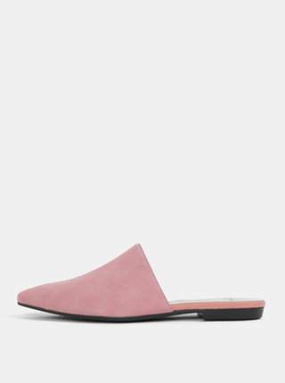 Papuci de dama roz deschis din piele intoarsa Vagabond Katlin