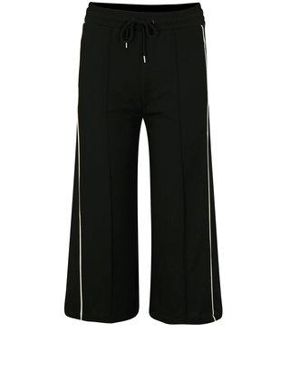 Černé culottes s bílými pruhy Moss Copenhagen Seely