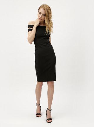 Černé šaty s průstřihy na ramenou ZOOT