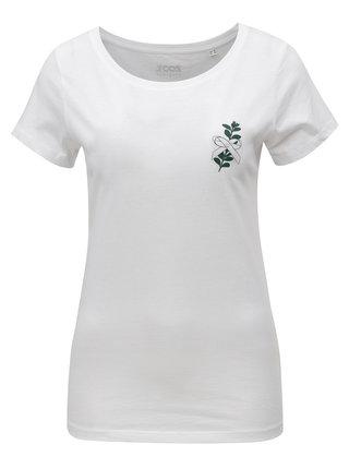 Tricou de dama alb cu print ZOOT Mirt