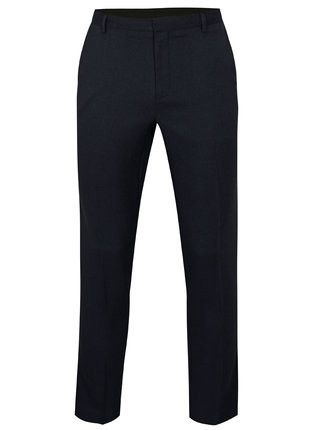 Pantaloni albastru inchis slim fit Burton Menswear London
