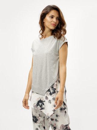 Sivé tričko s okrúhlym výstrihom DKNY