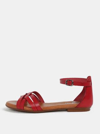 Červené kožené sandály OJJU