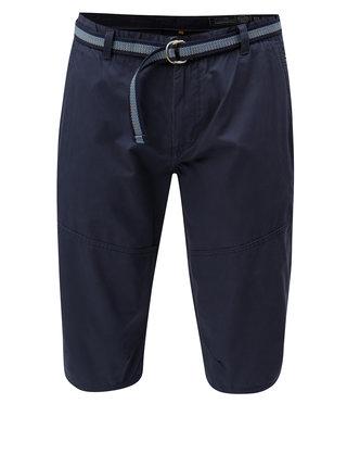 Pantaloni scurti albastru inchis chino cu curea Blend