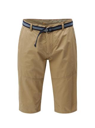 Pantaloni scurti maro deschis chino cu curea Blend