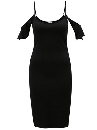 Čierne šaty s odhalenými ramenami Noisy May Laila