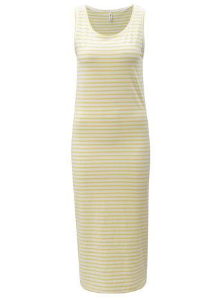 Žlté pruhované šaty Blendshe Jemima