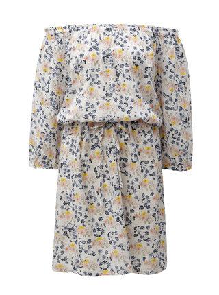 Krémové květované šaty Blendshe Jenn